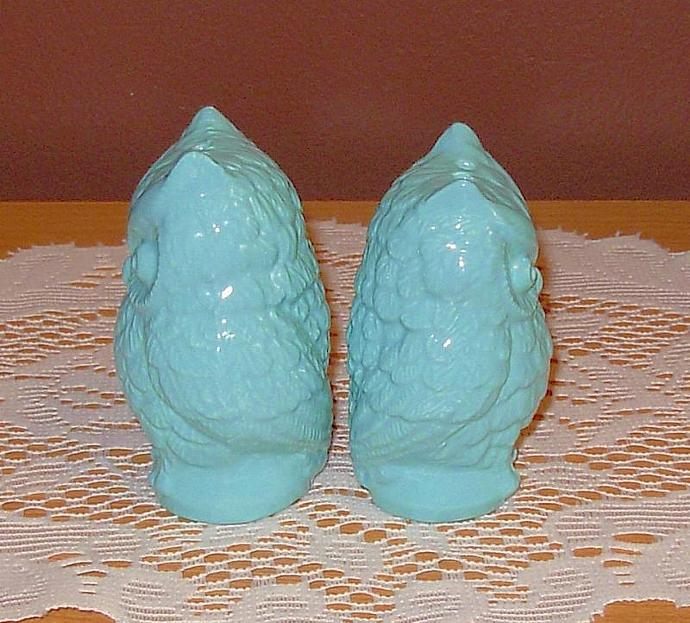 Hoot -- Ceramic Owl Wedding Cake Toppers / Owl Salt and Pepper Shakers  -