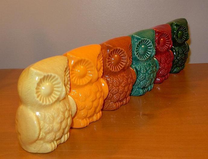 Tiki Ceramic Owl Figurine