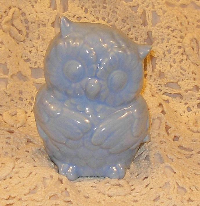 Hootie - Ceramic Owl Bank  -   Baby Blue