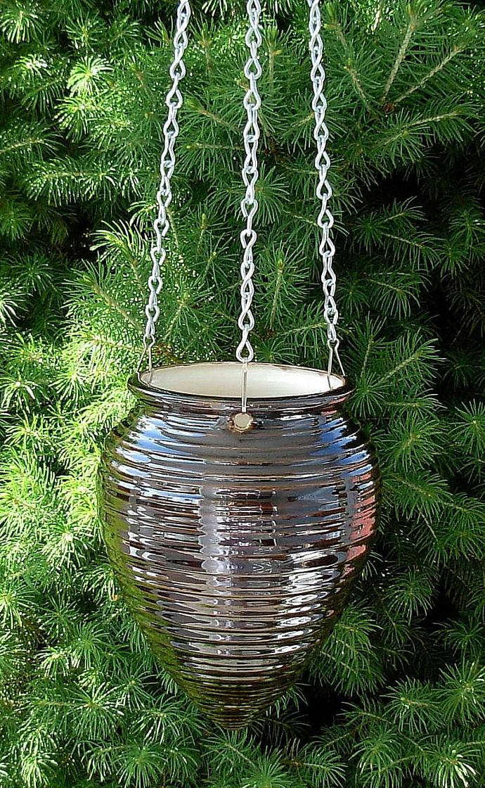 Hanging Planter  -  Bronze