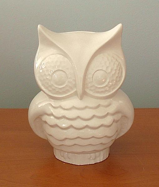 Hootie - Ceramic Owl Coin Bank  -   Classic White