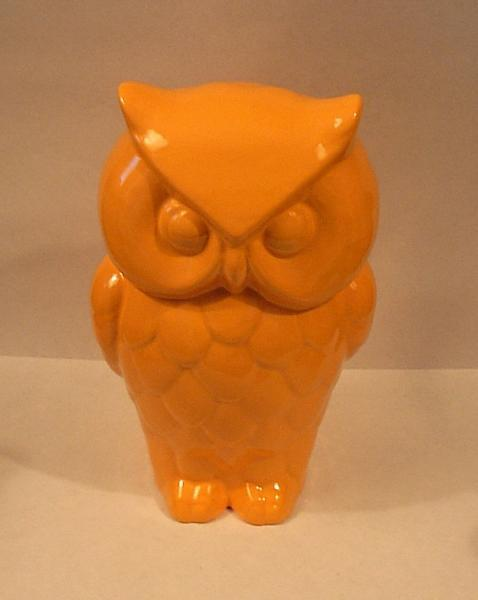 Hootie - Ceramic Owl Figurine  -  Orange