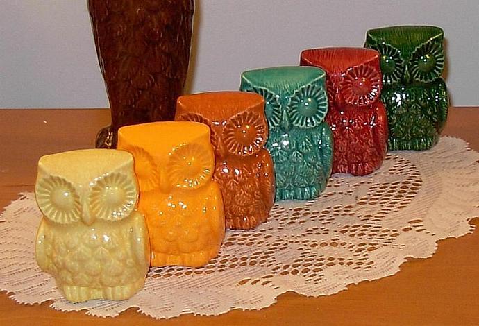 Hootie Hoot Hoot - Ceramic Owl Figurine   -  Sea Mist Green