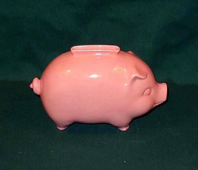 Vintage Piggy Bank - Pink