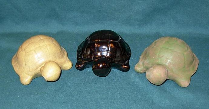 Ceramic Turtle Figurine - Black Luster