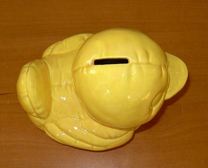 Ceramic Rubber Duckie Bank - Vintage Design - Yellow