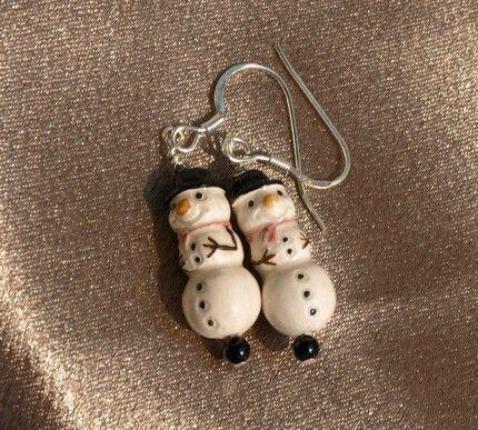 Snowman Earrings (8070)