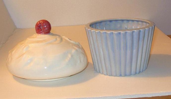 Ceramic Cupcake Candy Dish