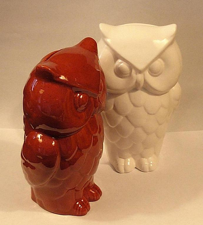 Hootie - Ceramic Owl Coin Bank - Piggy Bank  -  Classic White