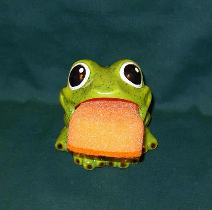 Frog Salt Pig / Scrubbie Holder / Soap Dish  - Kiwi Sprinkles