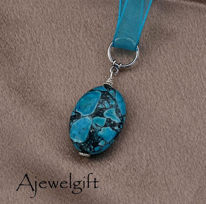 Blue Olympic Jasper Necklace