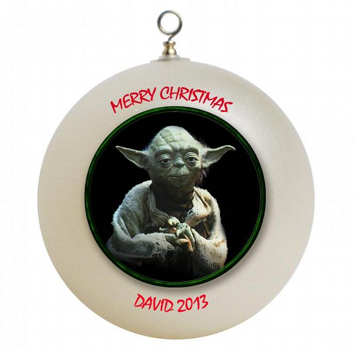 Star Wars Yoda Personalized Christmas Ornament