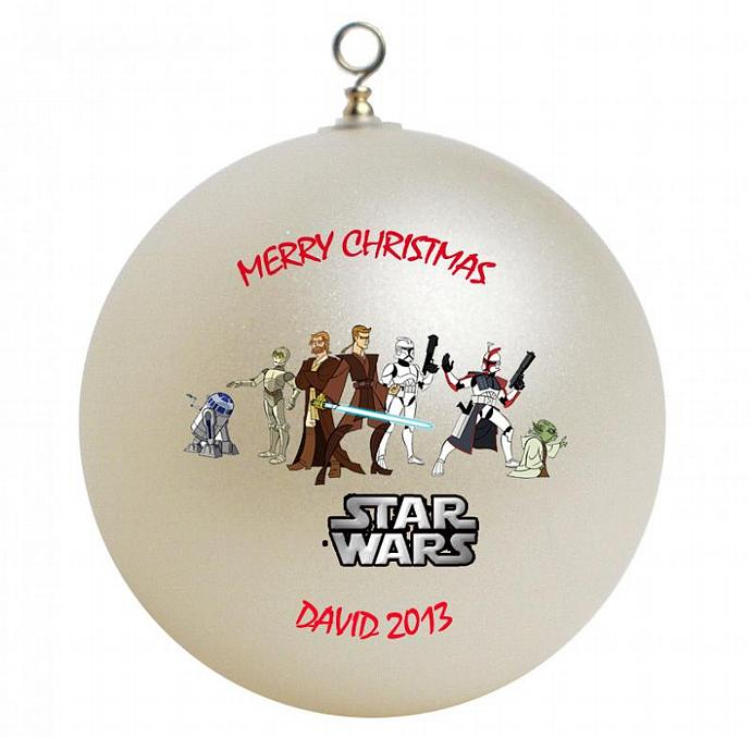 Star Wars Personalized Christmas Ornament by GiftsFromHyla on Zibbet