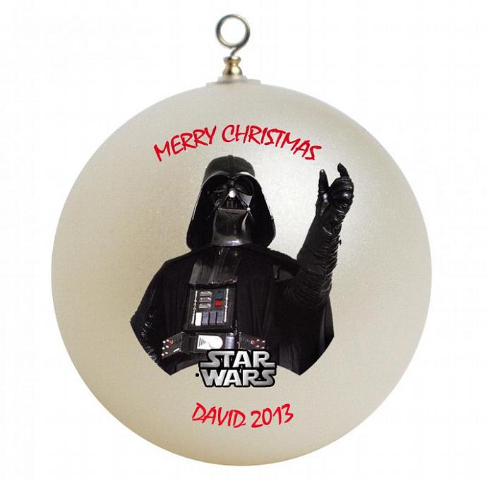 Star Wars Darth Vader Personalized Christmas Ornament