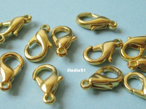 40 pcs of Bright Gold Finish Lobster Clasp