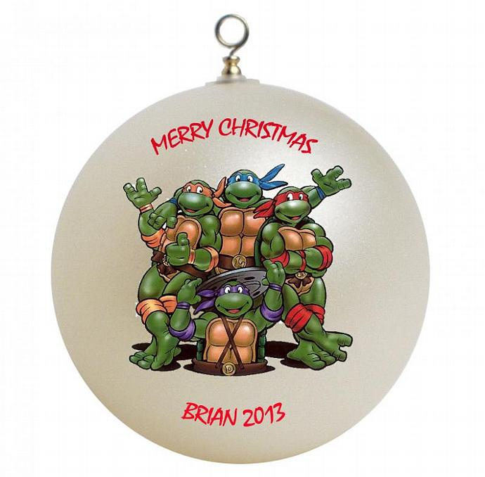 Teenage mutant ninja turtles personalized giftsfromhyla teenage mutant ninja turtles personalized christmas ornament sciox Image collections