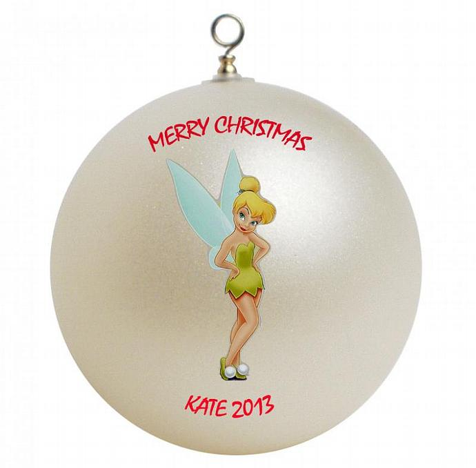 Tinkerbell Personalized Christmas Ornament