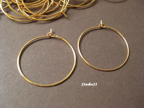 40 pcs of Rose Gold Finish Hoop Earring Wire