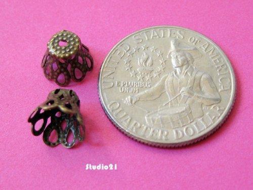 50 pcs of Antique Brozne Finish Cone Shape Bead Cap