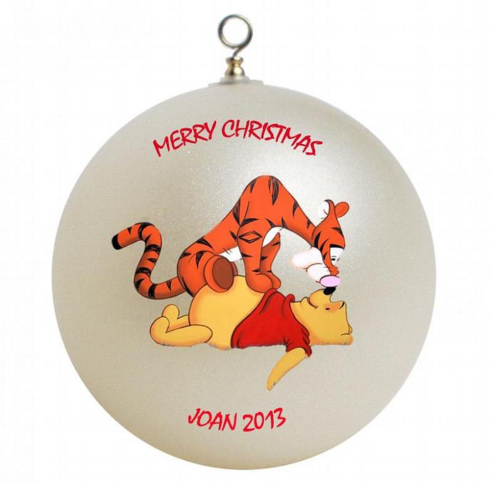 Tigger Christmas Ornaments.Winnie The Pooh And Tigger Personalized Christmas Ornament
