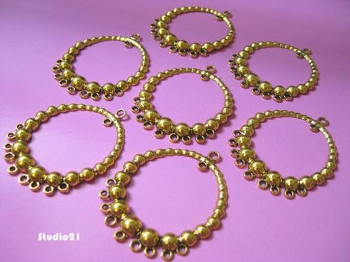 10 pcs of Antique Gold Finish 1-to-9 Chandelier Connector