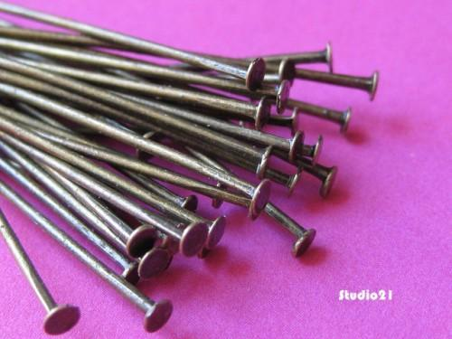 500 pcs of 2 inch Antique Bronze Finish Headpins