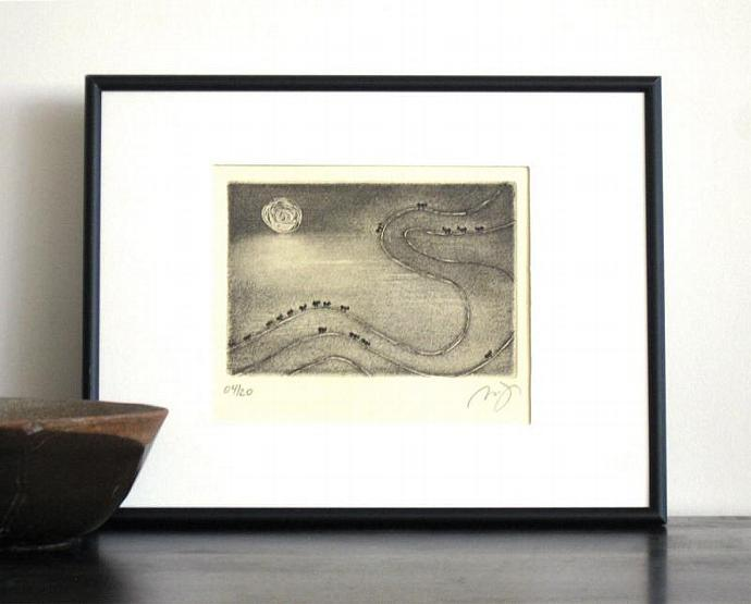 Original Aquatint ANTS Garden Fine Art Etching Wall Decor Etching Insects