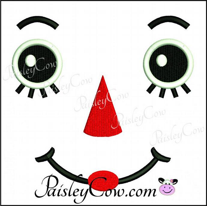 Raggedy Ann Doll Face Embroidery Machine By Paisleycow On Zibbet