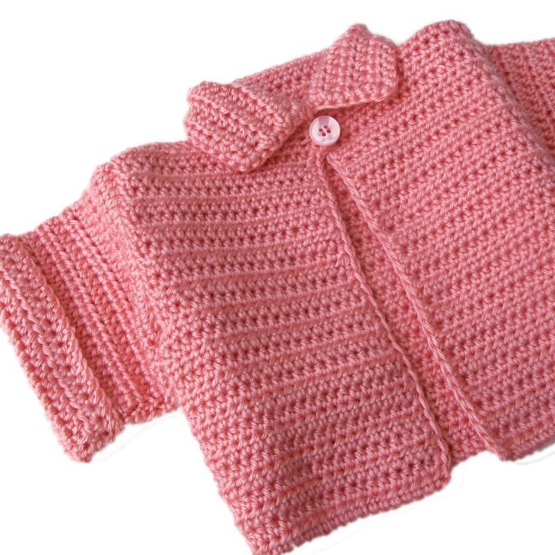Toddler Pink Short Sleeve Cardigan by BarkingDogDesigns on Zibbet