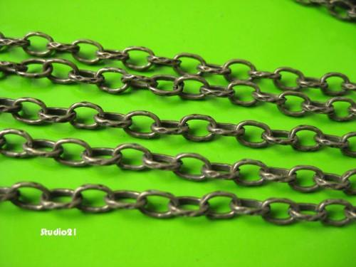 5 feet of Antique Brozne Finish Texture Oval Cable Chain