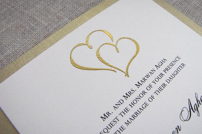 intertwining heats wedding invitations by moonlightstamper on zibbet