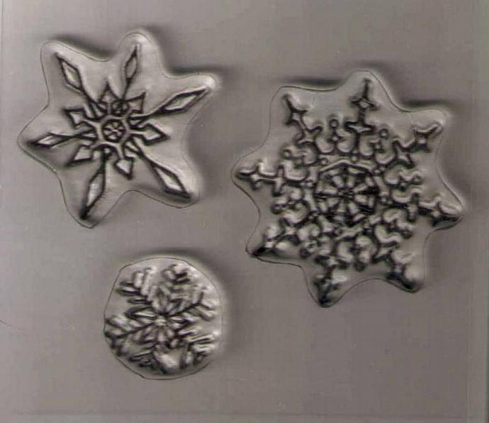 Snowflakes Three Flakes clear stamps