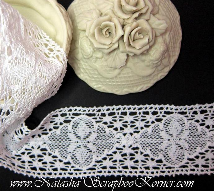 "Cotton Lace -  2 3/4"" White"