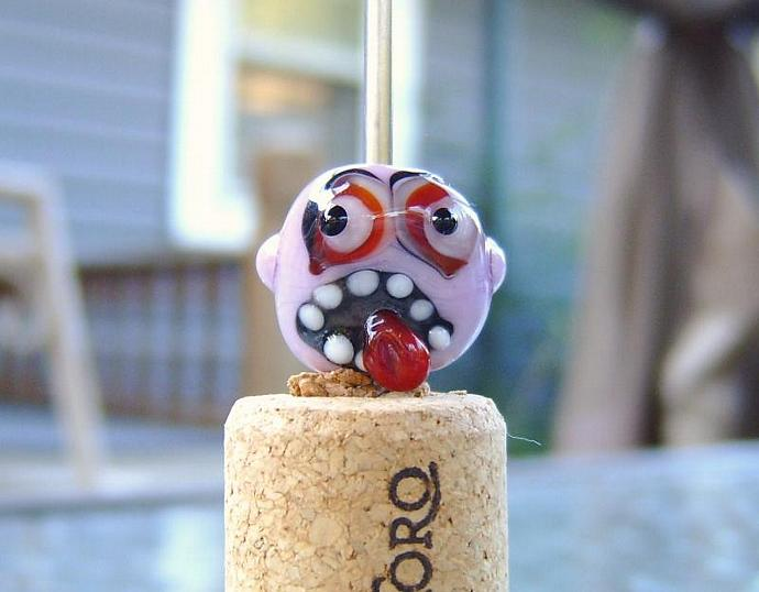 Lampwork focal Monster Bead