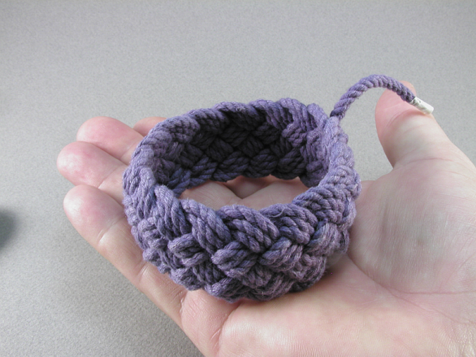 purple rope bracelet turks head knot bracelet sailor bracelet nautical bracelet