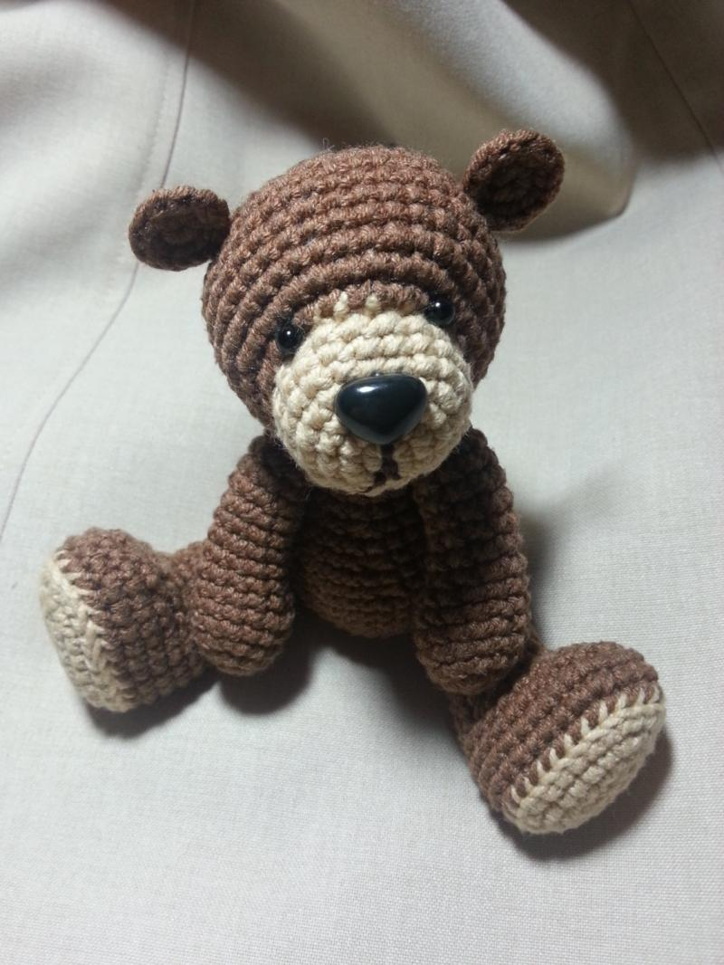 PDF Amigurumi Crochet Pattern - Cute Teddy Bear by oxan4ik on Zibbet