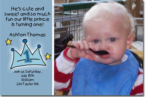 Little Prince Crown Birthday Party Invitations (Download JPG Immediately)