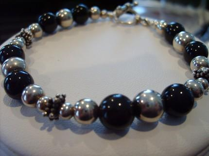 Classic Black and Silver Bracelet