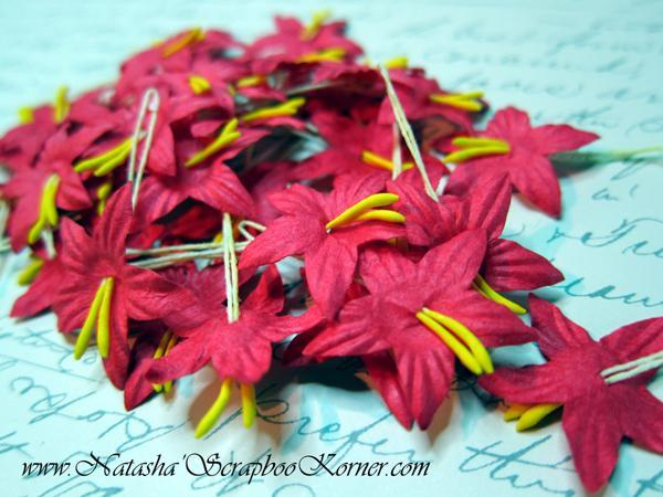 Star Flowers - 10pcs Red