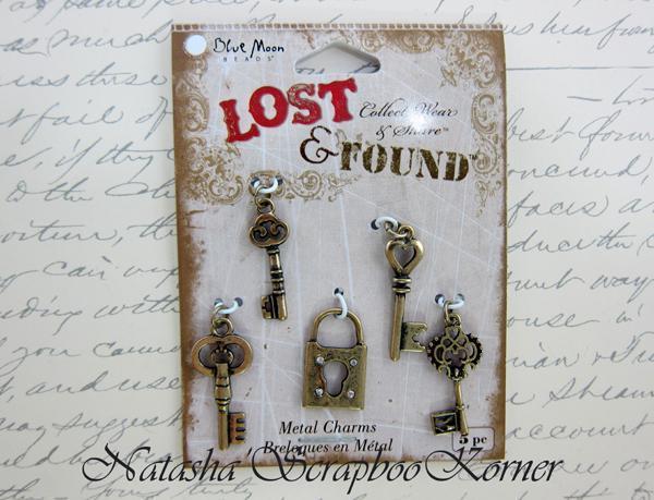 Metal Key Charms - 5pc