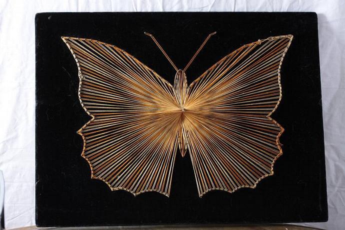 Groovy Retro String Art Butterfly