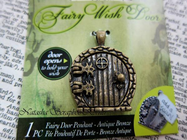 Fairy Wish Door Gate Charm Pendant - Bronze, Silver