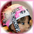 Crocheted Beanie Cap / Marabou Bow HOT PINK Zebra  FREE SHIPPING