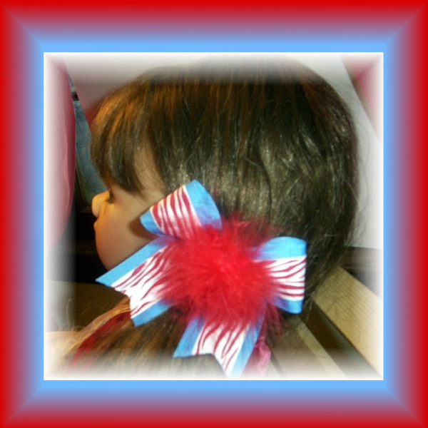 Webb City Cardinals CHEER SPIRIT Pony-O Bow FREE SHIPPING