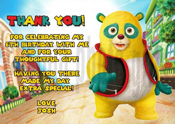 Special Agent Oso Personalized Custom Birthday Thank You Card Digital File, You