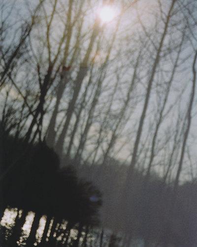 a winter light.  8 x 10.  multiple exposure photograph.