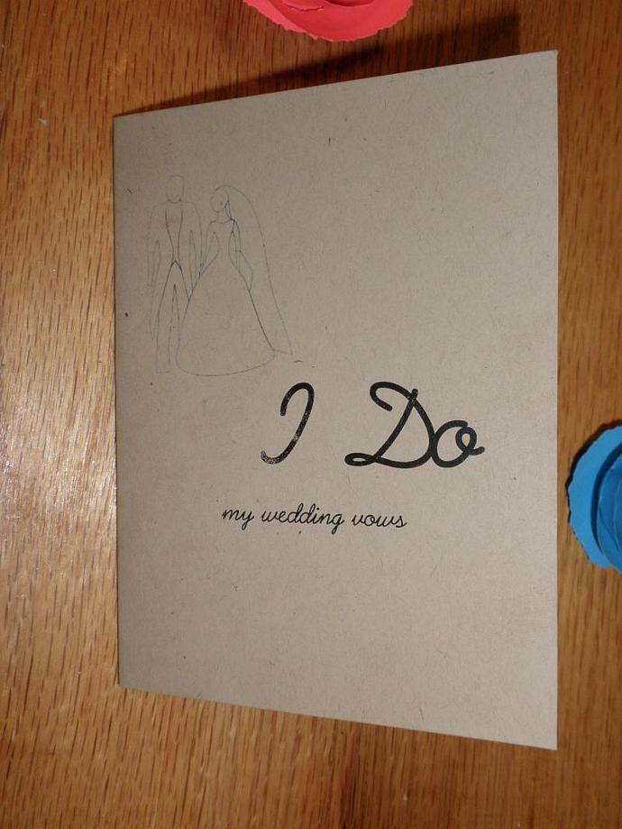 Set Of 2 I Do Wedding Vows Booklet