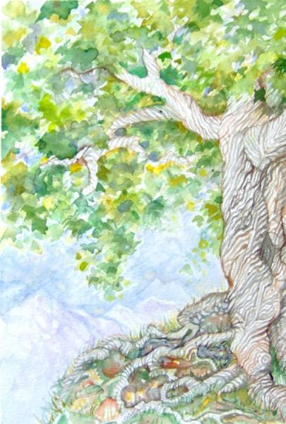 Ancient Tree Original Painting