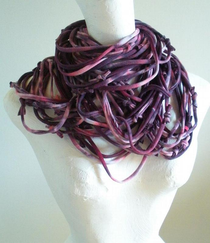 Acai Infinity Scarf Amethyst Hand Dyed Purple Ombre Circle Scarf Pantone Fall