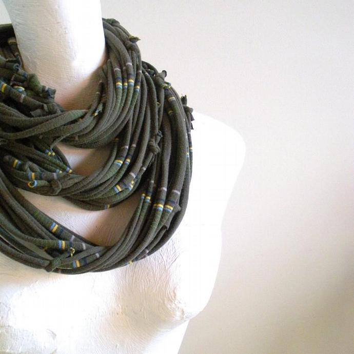 Deep Lichen Green Infinity Scarf Pantone Fall fashion Color Eco Friendly Circle